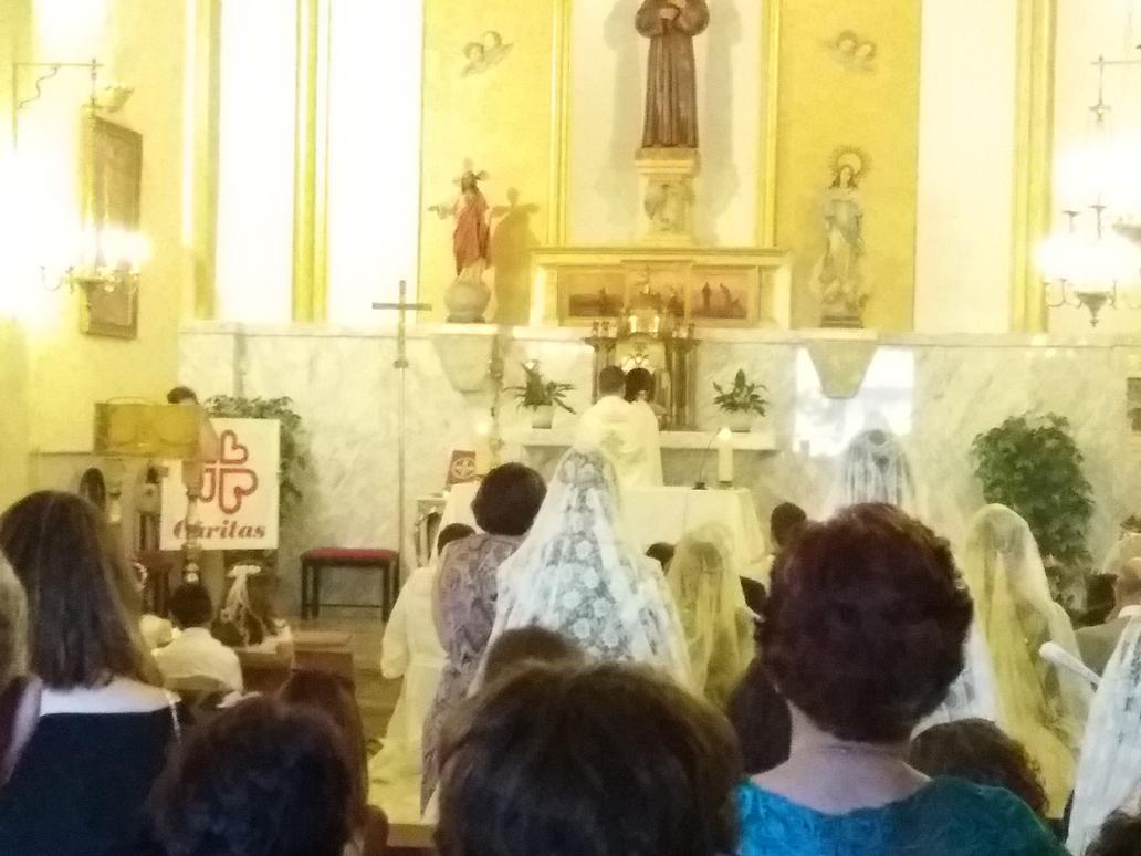 Parroquia El Altet - Finalizando la procesión del Corpus Christi